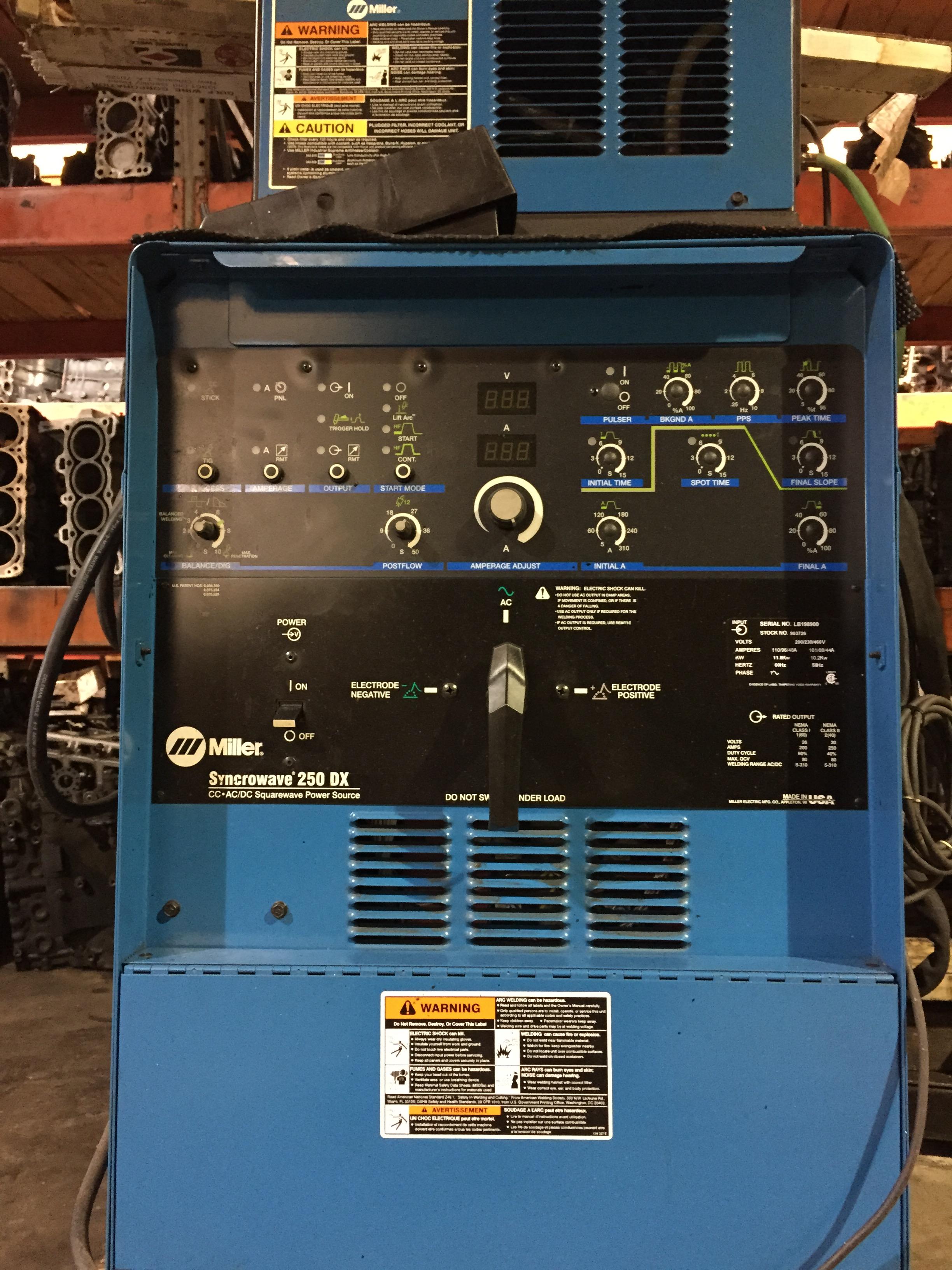 Miller Welding Machine Used Syncrowave 250 Dx Welder Ebay